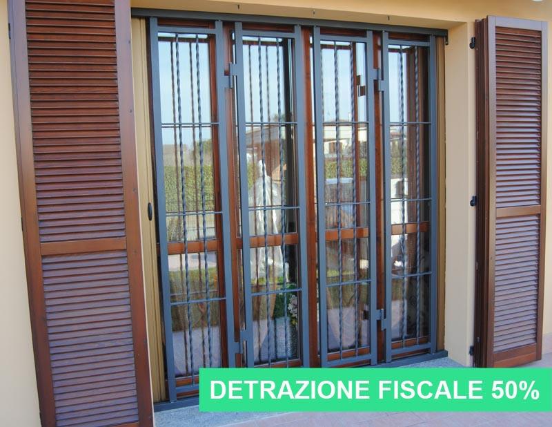 Inferriate di sicurezza e detrazione fiscale 50 grate for Detrazione zanzariere 2017